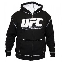 UFC Sherpa Hoodie Black Size Small