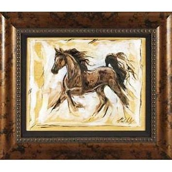 Horses Running III - Original Mixed Media Painting on Canvas by Marta Wiley