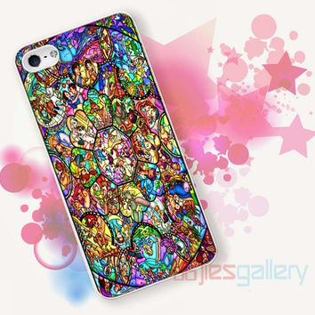 All disney heroes stained glass for iPhone 4/4S, iPhone 5/5S, iPhone 5C, iPhone 6 Case - Samsung S3, Samsung S4, Samsung S5 Case
