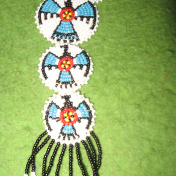 Vintage Native American Thunderbird Beaded Necklace