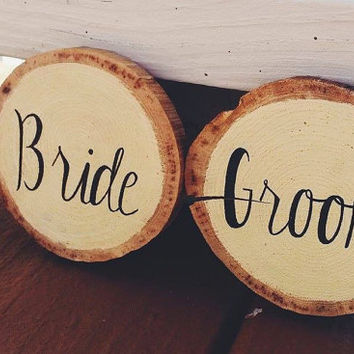 Bride and Groom Coasters, Wedding Coasters, Drink Coasters, Wood Coasters, Rustic Wedding, Personalized Coaster, Rustic Wood Circles