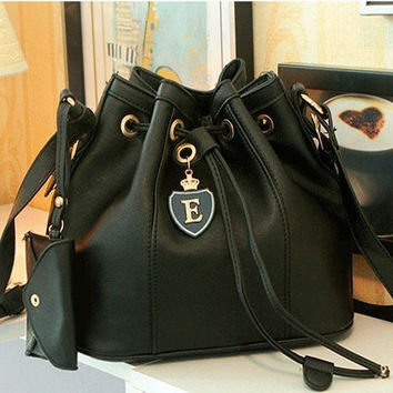New Black & White Women Handbag Shoulder Bags Tote Purse PU Leather Messenger Hobo Bag #mgsu.inc.# [8400840007]