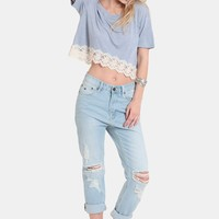 Heaven On Earth Crop Top | Threadsence