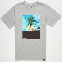 Nixon Summerz Mens T-Shirt Heather Grey  In Sizes
