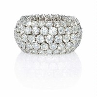 9.48ct Diamond 18k White Gold Flexible Eternity Wedding Band Ring