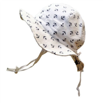 Baby & Toddler Adjustable Sun Hat - Anchors