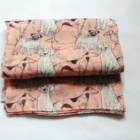 "Quirky ""Dogs"" Soft Over Sized Scarf/Shawl."
