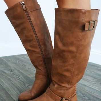 Give Me Space Boots: Cognac