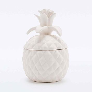 Pineapple Jewellery Box in White - Urban Outfitters