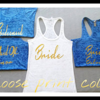 Bride Tanks. Bride Tank Tops.  Bridal Tank. Fiance Shirt Wedding Tanks. Bridesmaid Shirt. Bachelorette Shirt. Bride Shirts. Bridal Tanks.