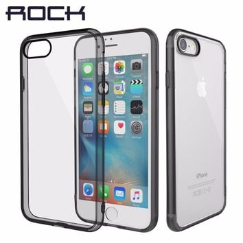 ROCK Pure Series Hard Back case for iPhone 7/ 7 Plus Crystal Clear Phone case for iPhone7 hard back case with soft edge
