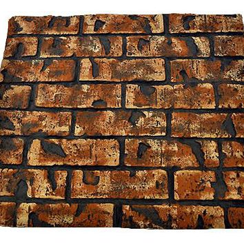 Decorative Brick Florence Heat Reflective Fireplace Panel