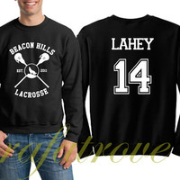 Lahey Sweatshirt Beacon Hills Teen Wolf 14 Number Unisex Sweatshirts - RT105