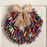 Multi-color Shotgun Shell Wreath