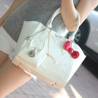 Famous brand designer women female leather hello kitty handbags shoulder bags sac a main femme de marque bolsas femininas