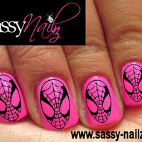 Superhero Nail Art Dress Up Spiderman Nail Art Transfers