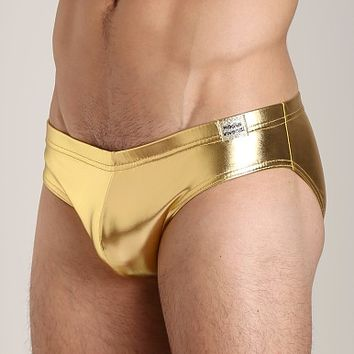 Modus Vivendi Gold Metallic Ultra Brief 08411 at International Jock Underwear & Swimwear