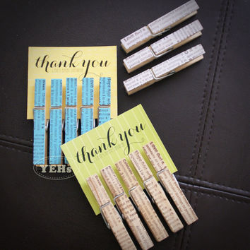 Decorative clothespins (50pcs) - The Best Baby Shower, Bridal Shower, Wedding and Party Favors - Set of 5 (Celebration/Dream/Hope/Love/Wish)