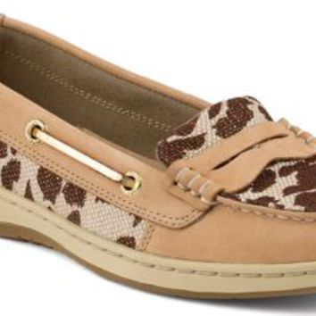 Sperry Top-Sider Pennyfish Leopard Print Loafer Linen, Size 7M  Women's Shoes