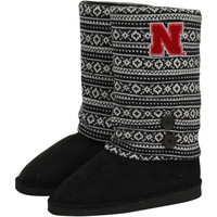 Nebraska Cornhuskers Ladies Retro Boots - Black/White