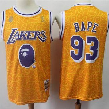 PEAP A Bathing Ape 93 x Lakers Swingman Jersey