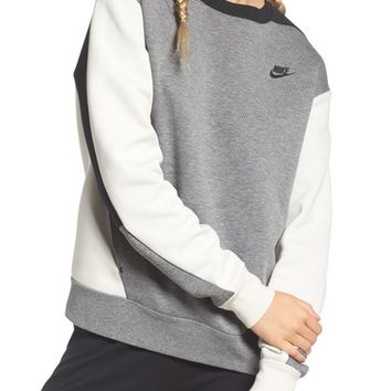 Nike Colorblock Fleece Top | Nordstrom