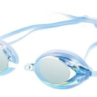 Speedo Women's Vanquisher Mirrored Swim Goggle, Blue