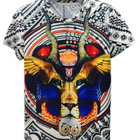 Multicolor  Lion Printed T-shirt