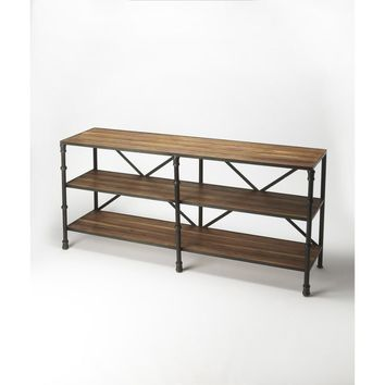 Auvergne Industrial Chic Display Console Table By Butler Specialty