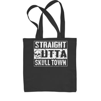 Straight Outta Skull Town Shopping Tote Bag