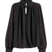 Blouse with Stand-up Collar - from H&M
