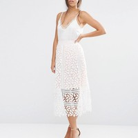 Boohoo | Boohoo Cutwork Lace Skirt at ASOS