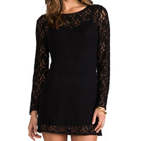 Ladakh Autumn Lace Dress in Black