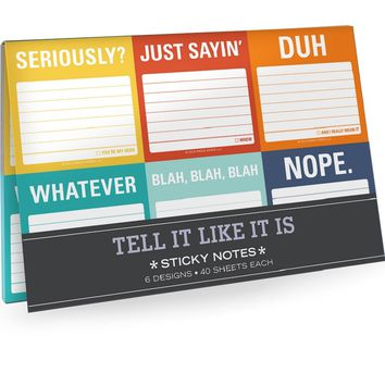 Tell It Like It Is Sticky Note Packet