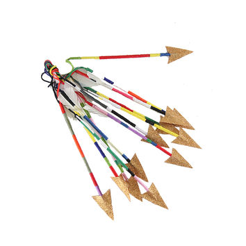 Thread Wrapped Arrow Ornaments