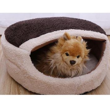 1Pcs Pet Beds Mats Puppy Warm Soft Sleeping Bag Small Animal House Lovely Cat Mat Cushion Cages Pet Supplies Accessories 9Z