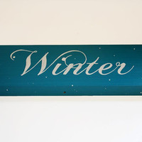 Winter Wooden Sign Decor