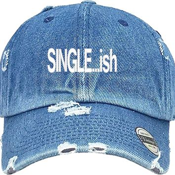 SINGLEISH Distressed Baseball Hat