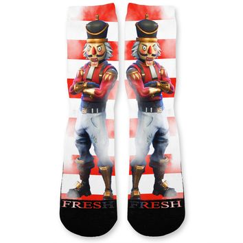 Fortnite Crackshot Custom Athletic Fresh Socks