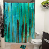 Beach Fence Shower Curtain