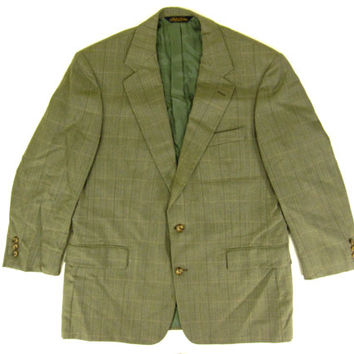 Vintage Brooks Brothers Green Suit Jacket - Sport Coat Blazer Ivy League Menswear - Men's Size Large 43