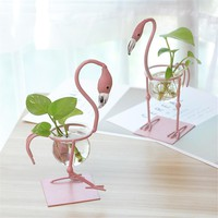 European Flamingo Small Flower Pot Water Culture Scindapsus Container Living Room Decorations Office Garden Personality Ornament