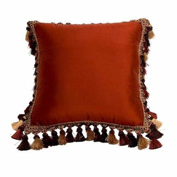 Canaan Company P-888-HH Silk-Suede Henna Square Pillow