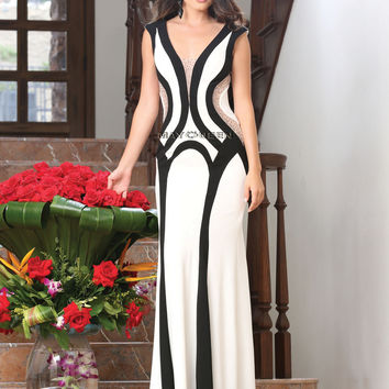 Black And White Evening Dress RQ7371
