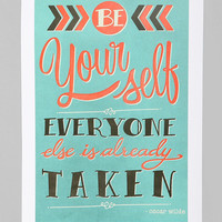 Urban Outfitters - Laura Graves For Society6 Be Yourself Art Print