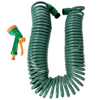 Evelots Garden Hose Extender Connector W/ Sprayer Nozzle, Lawn & Patio, 50 Feet