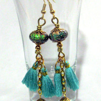 Mirage Mood Bead Tassle Earrings Bohemian Jewelry