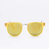 Spitfire Teddy Boy 2 Round Yellow Sunglasses - Urban Outfitters