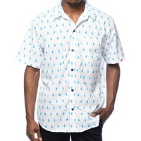 Most Dope ALLOVER RAINDROP Button Up Shirt NWT 100% Authentic Mac Miller Obey