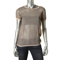 Dsquared2 Womens Knit Short Sleeves Pullover Sweater